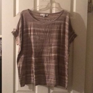Loft by Ann Taylor Short sleeved top new with tag